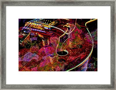 Keeping In Tune Digital Guitar Art By Steven Langston Framed Print by Steven Lebron Langston
