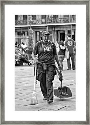 Keeping It Clean Monochrome Framed Print by Steve Harrington