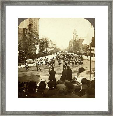 Keeping Step To Fife And Drum. Inaugural Parade Framed Print by Litz Collection