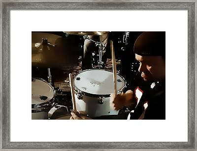 Keeping The Beat Framed Print