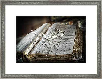 Framed Print featuring the photograph Keeping The Books by Vicki DeVico