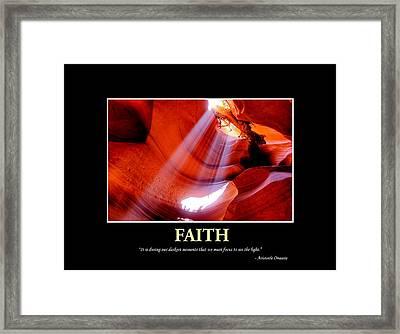 Keeping The Faith Framed Print by Gregory Ballos