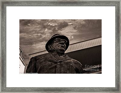 Keeping Watch Bw Framed Print by Tommy Anderson