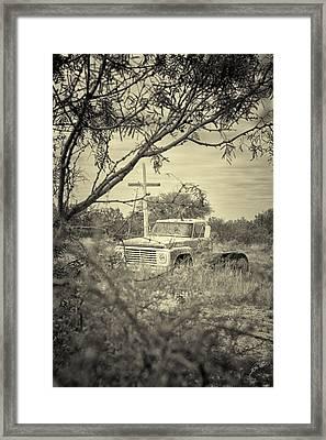 Framed Print featuring the digital art Keeping Watch by Erika Weber