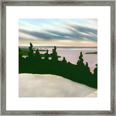 Framed Print featuring the painting Keeping Watch by Jo Appleby