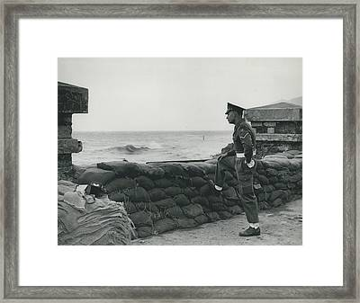 Keeping Watch On The High Tides At Lyn Mouth Framed Print by Retro Images Archive