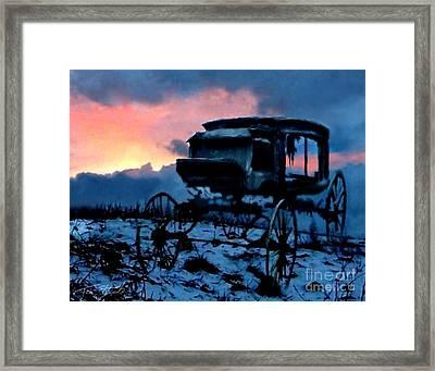 Kegs Carriage Framed Print by Tom Straub