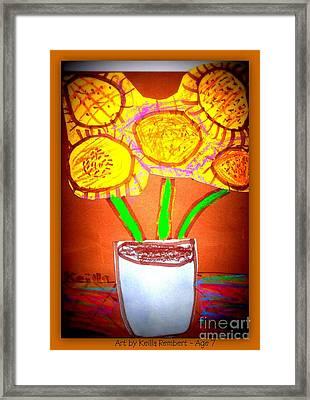 Keillas Sunflowers Framed Print