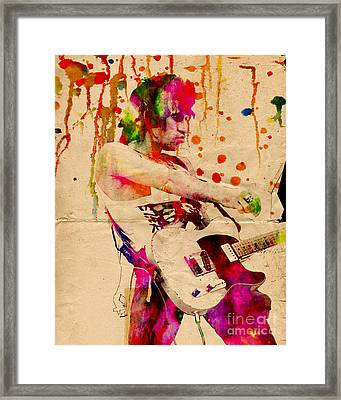 Keith Richards - The Rolling Stones  Framed Print by Ryan Rock Artist