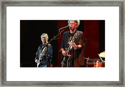 Keith Richards And Eric Clapton Framed Print by Marvin Blaine