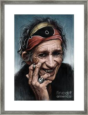 Keith Richards Framed Print by Andre Koekemoer