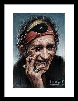 Keith Richards Framed Prints