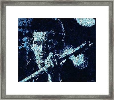 Keith Richards Framed Print by Barry Novis