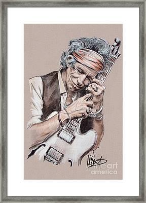 Keith Richards Framed Print by Melanie D