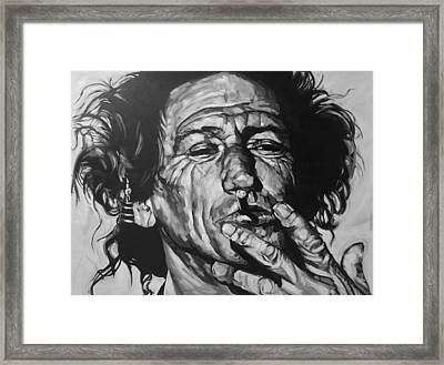 Keith Richards Framed Print by Steve Hunter