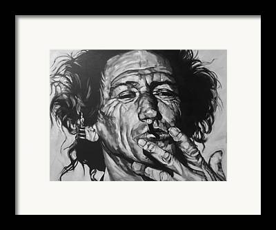 Mick Jagger And Keith Richards Framed Prints