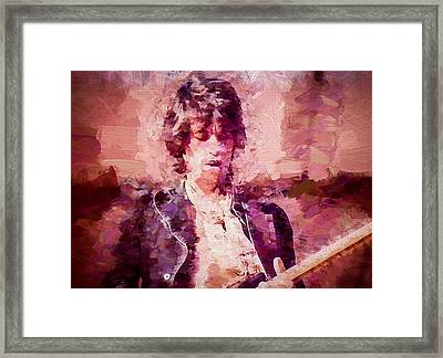 Keith Richards Framed Print by Vivian Frerichs