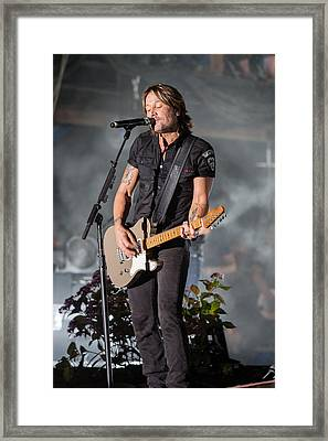 Keith Urban 1 Framed Print by Mike Burgquist