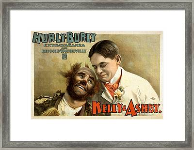 Kelly And Ashy, American Acrobatic Framed Print