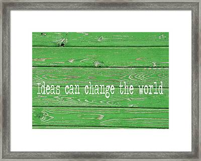 Kelly Colored Quote Framed Print by JAMART Photography
