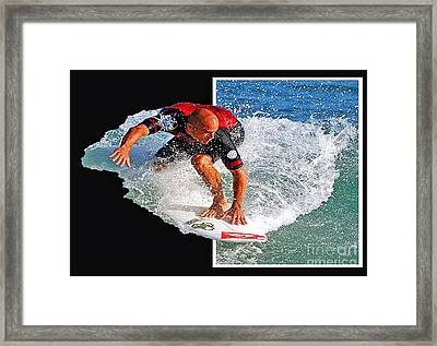 Kelly Slater Popping Out  Framed Print
