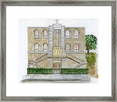 Kelly Temple Church In East Harlem Framed Print by AFineLyne
