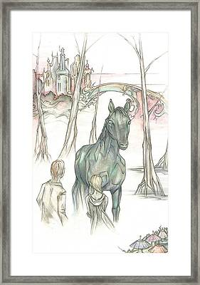 Kelpie Encounter Framed Print by Danielle Sobol