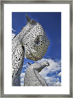 Framed Print featuring the photograph Kelpies by Craig B