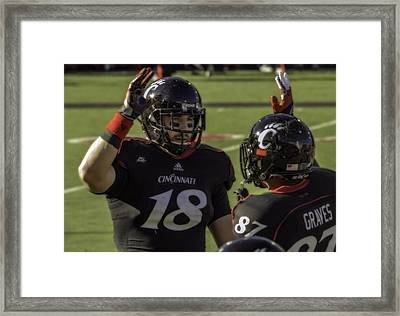 Kelsey And Graves High Five Framed Print by Tom Climes