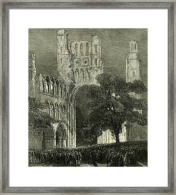 Kelso U.k. 1867 Kelso Abbey Illuminated By The Lime-light Framed Print