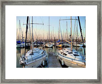 Kemah Boardwalk Marina Framed Print