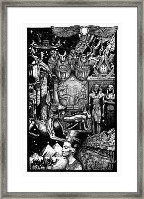 Kemitology Framed Print by Matthew Ridgway
