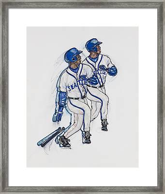 Ken Griffey Jr. Framed Print by Suzanne Macdonald