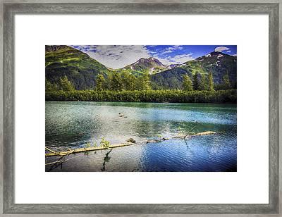 Kenai Alaska Lake Framed Print