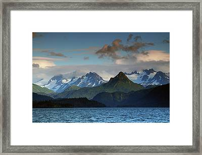 Kenai Mountains And Kachemak Bay Framed Print