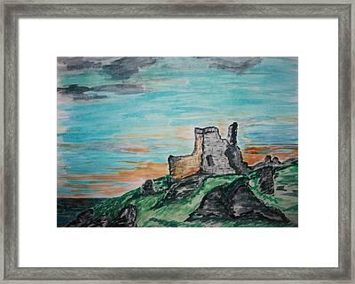 Kenbane Castle Framed Print by Paul Morgan