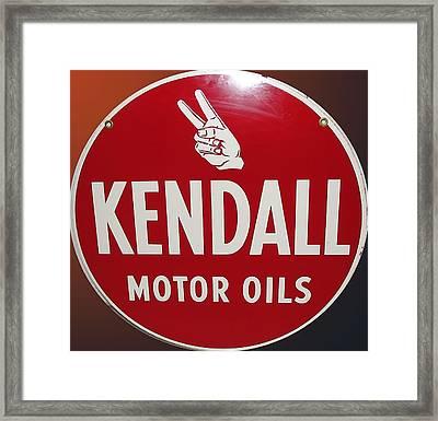Kendall Motor Oils Framed Print by Marvin Blaine