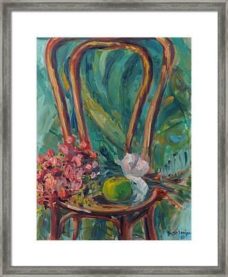 Kenda's Chair Framed Print by Susie Jernigan