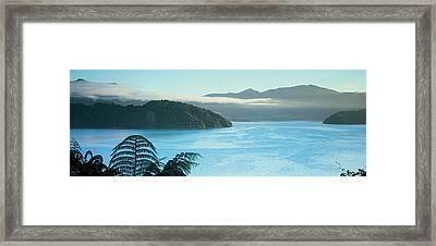 Kenepuru, Marlborough Sound, New Zealand Framed Print