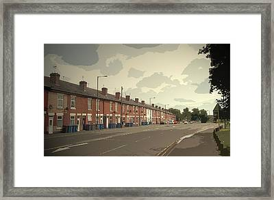 Kenilworth Avenue In Pear Tree, Dwellings On The A511 Road Framed Print
