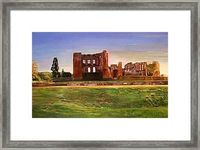 Kenilworth Castle Grandeur, 2008 Oil On Canvas Framed Print by Kevin Parrish