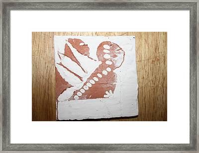 Kenna - Tile Framed Print by Gloria Ssali