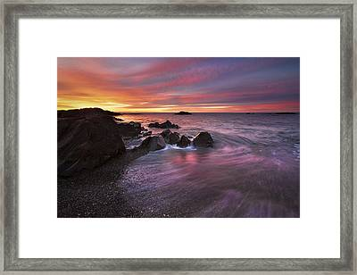 Kennebunk Sunrise Framed Print by Eric Gendron