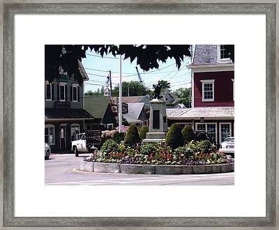 Kennebunkport Circle Framed Print by Dusty Reed