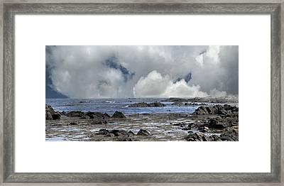 Kennebunkport Seascape Framed Print by Betsy Knapp