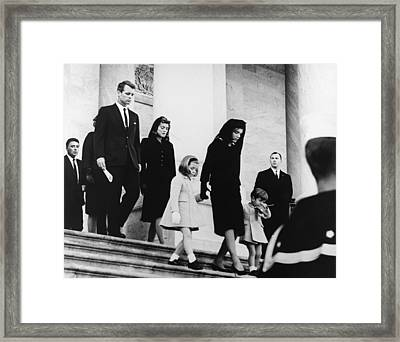 Kennedy Funeral Framed Print by Underwood Archives  Abbie Rowe