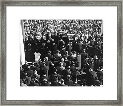 Kennedy Inauguration, 1961 Framed Print by Granger