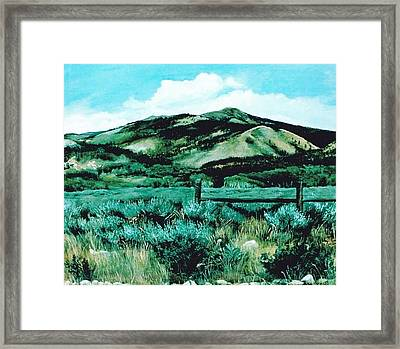 Kennedy Peak In Wyoming Framed Print by Terri Ana Stokes