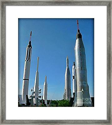 Kennedy Space Centre In Florida Framed Print by John Malone