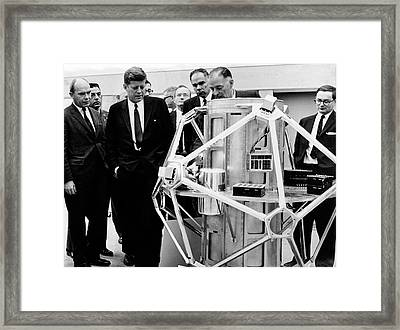 Kennedy Visiting Sandia Labs Framed Print by Sandia National Laboratories